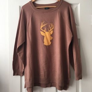 Rue 21 Plus Size Deer Lightweight Hi/Lo Sweater